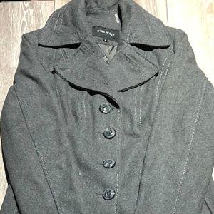 Women's Nine West gray wool peacoat size 6